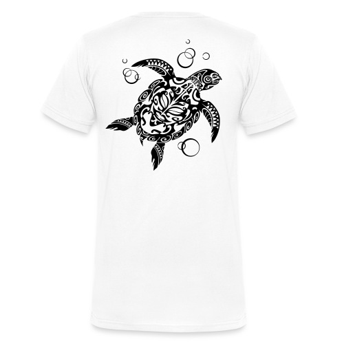 Watchful Turtle - Men's Organic V-Neck T-Shirt by Stanley & Stella