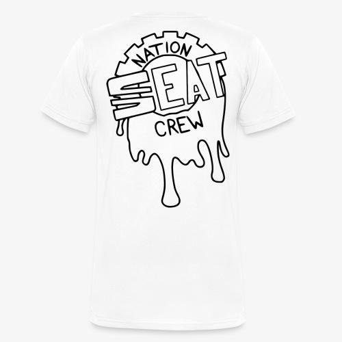 Seatnationcrew Logo schwarz - Männer Bio-T-Shirt mit V-Ausschnitt von Stanley & Stella