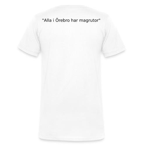 Ju jutsu kai förslag 2 version 1 svart text - Ekologisk T-shirt med V-ringning herr från Stanley & Stella