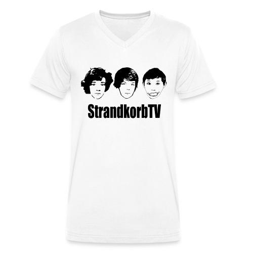 Tshirt vorne 2 png - Männer Bio-T-Shirt mit V-Ausschnitt von Stanley & Stella