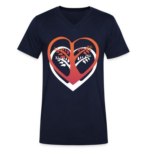 chooselove qu 4c symbol png - Männer Bio-T-Shirt mit V-Ausschnitt von Stanley & Stella