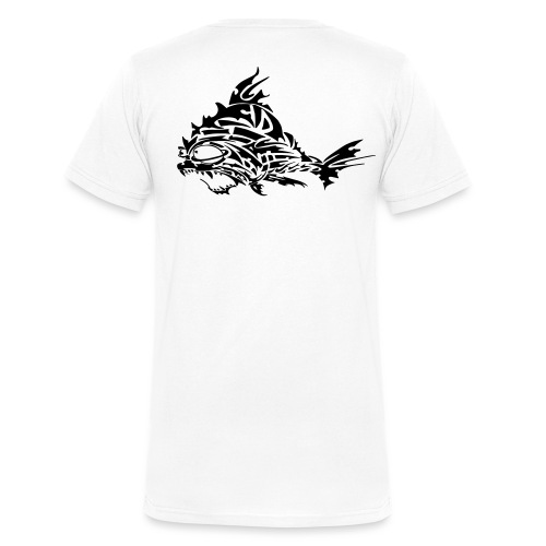 The Furious Fish - Men's Organic V-Neck T-Shirt by Stanley & Stella