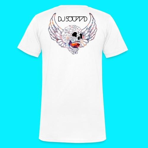 SKULL DJ5OUND - Männer Bio-T-Shirt mit V-Ausschnitt von Stanley & Stella