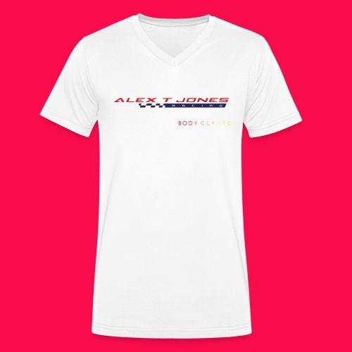 alex t jones racing logo CLEAR BKGD copy png - Men's Organic V-Neck T-Shirt by Stanley & Stella