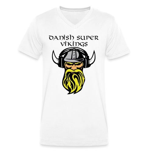 Slogan.png Sportsbeklædning - Økologisk Stanley & Stella T-shirt med V-udskæring til herrer