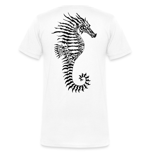 Alien Seahorse Invasion - Men's Organic V-Neck T-Shirt by Stanley & Stella