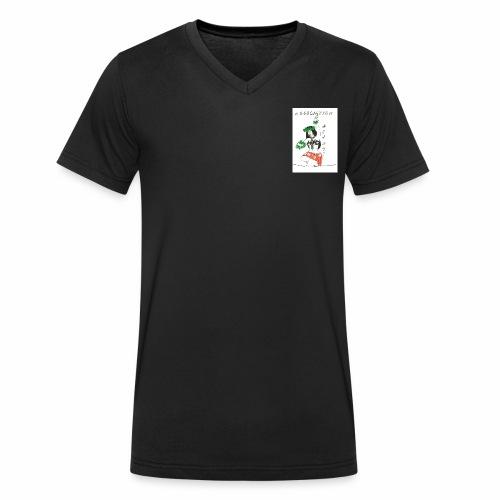 logo fond transparent - T-shirt bio col V Stanley & Stella Homme
