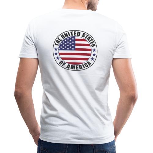 The United States of America - USA flag emblem - Men's Organic V-Neck T-Shirt by Stanley & Stella
