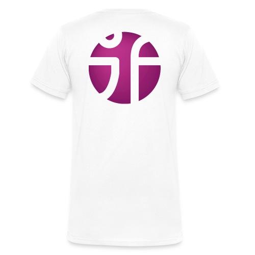 JF Logo Violet 3 png - Männer Bio-T-Shirt mit V-Ausschnitt von Stanley & Stella
