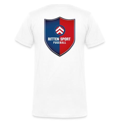 Wappen Fussball Ritten - Männer Bio-T-Shirt mit V-Ausschnitt von Stanley & Stella
