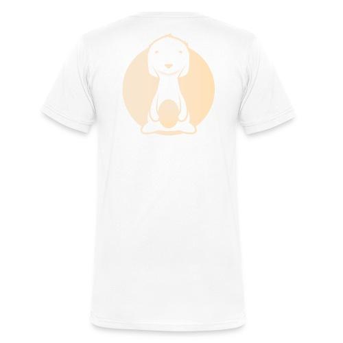 Die Kuschel Kiste: rundes Logo - Männer Bio-T-Shirt mit V-Ausschnitt von Stanley & Stella