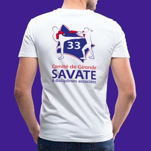 Comité Savate 33 - T-shirt bio col V Stanley & Stella Homme