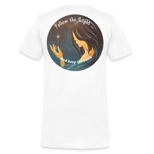 Follow the light, d'après le peinture Améthyste - T-shirt bio col V Stanley & Stella Homme