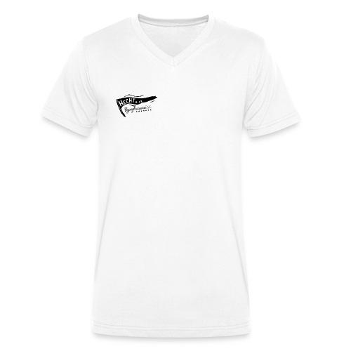 Hecht Flag - Männer Bio-T-Shirt mit V-Ausschnitt von Stanley & Stella