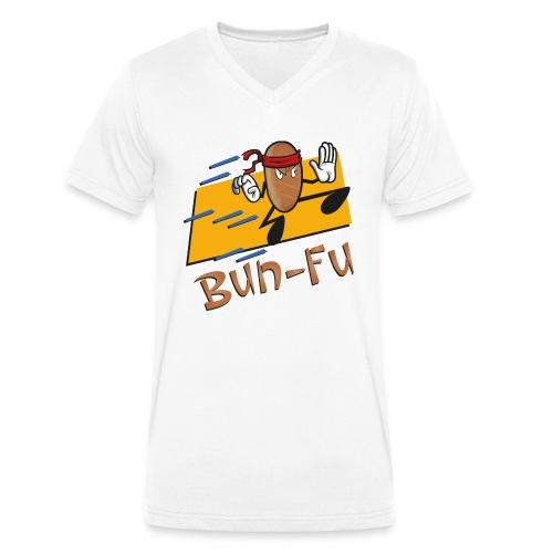 La leggenda di Bun Fu panino kung fu (Doubleface) - T-shirt ecologica da uomo con scollo a V di Stanley & Stella