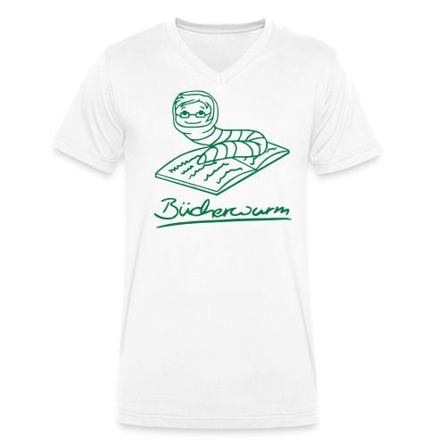 Bücherwurm 1 - Männer Bio-T-Shirt mit V-Ausschnitt von Stanley & Stella