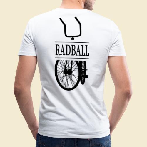 Radball   Retro Black - Männer Bio-T-Shirt mit V-Ausschnitt von Stanley & Stella