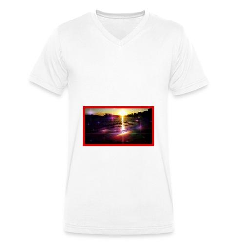 toulon plage - T-shirt bio col V Stanley & Stella Homme