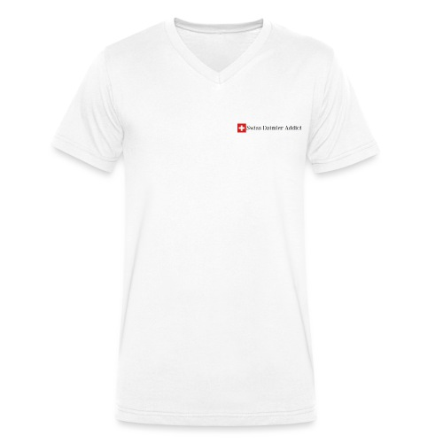 SDA Logo 1 schwarz - Männer Bio-T-Shirt mit V-Ausschnitt von Stanley & Stella