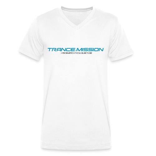 tshirt weiss - Männer Bio-T-Shirt mit V-Ausschnitt von Stanley & Stella