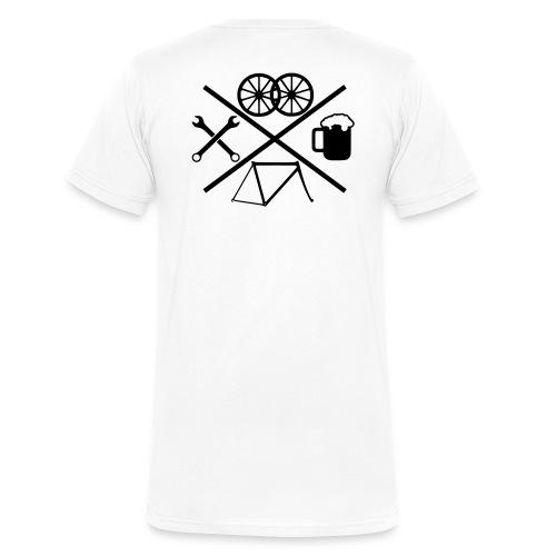 Cross Bike - Männer Bio-T-Shirt mit V-Ausschnitt von Stanley & Stella