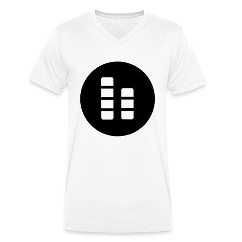 ctylight icon bild rund - Männer Bio-T-Shirt mit V-Ausschnitt von Stanley & Stella