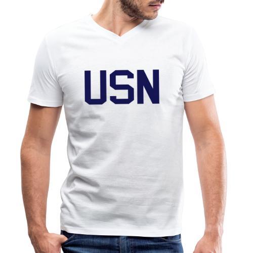 Seaman Recruit SMR, US Navy, Mision Militar ™ - Männer Bio-T-Shirt mit V-Ausschnitt von Stanley & Stella