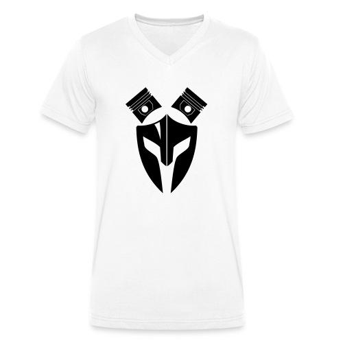 Trucker Maske Kolben 1 - Männer Bio-T-Shirt mit V-Ausschnitt von Stanley & Stella