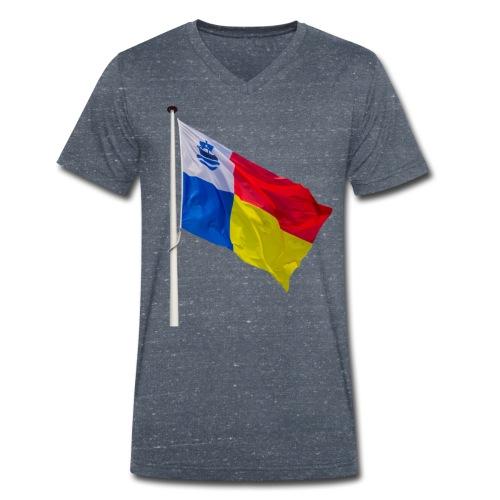 Almere Vlag Only - Mannen bio T-shirt met V-hals van Stanley & Stella
