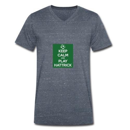 keep calm and play hattrick - T-shirt ecologica da uomo con scollo a V di Stanley & Stella