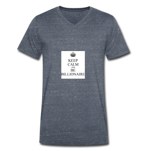 Keep Calm T shirt - Mannen bio T-shirt met V-hals van Stanley & Stella