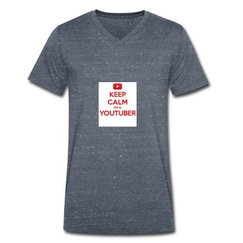keep calm im a youtuber - Mannen bio T-shirt met V-hals van Stanley & Stella