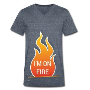 I'm on fire - Mannen bio T-shirt met V-hals van Stanley & Stella