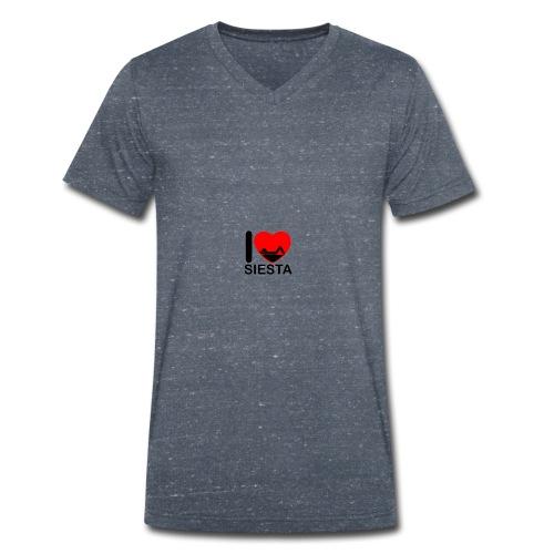 I love siesta - Camiseta ecológica hombre con cuello de pico de Stanley & Stella