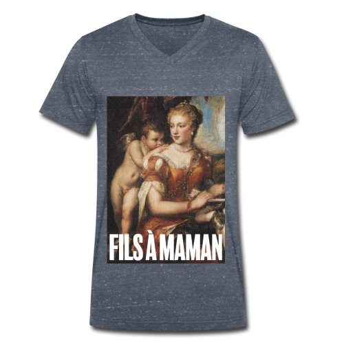 Fils à maman - T-shirt bio col V Stanley & Stella Homme