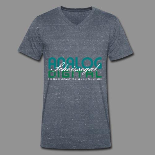Analog, Digital, Scheissegal... - Männer Bio-T-Shirt mit V-Ausschnitt von Stanley & Stella