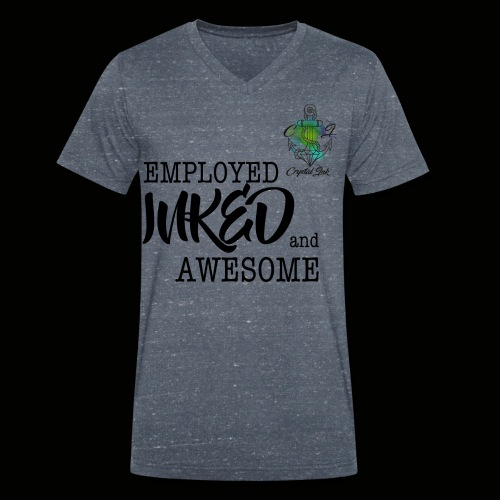 Employed inked and awesome - Männer Bio-T-Shirt mit V-Ausschnitt von Stanley & Stella