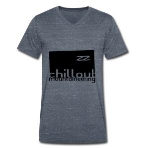 Chillout Mountaineering Hood / Hemsedal Edition - Økologisk T-skjorte med V-hals for menn fra Stanley & Stella