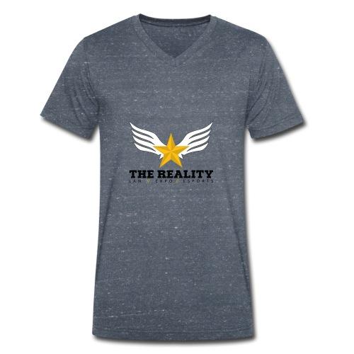 The Reality Mug - Mannen bio T-shirt met V-hals van Stanley & Stella