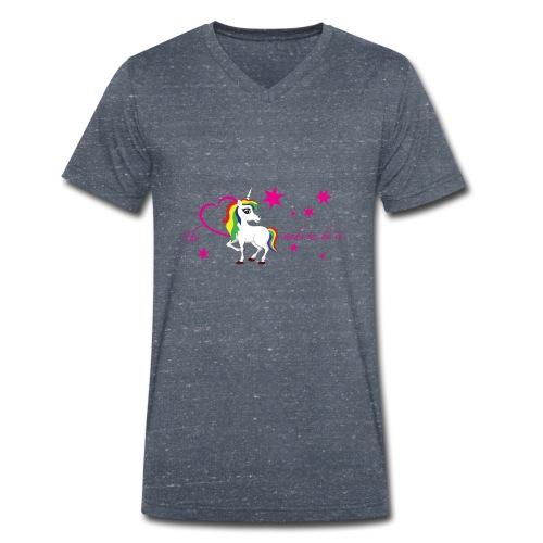 The-unicorn-made-me-do-it_stars - Männer Bio-T-Shirt mit V-Ausschnitt von Stanley & Stella