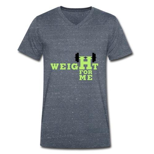 Weight for me - Mannen bio T-shirt met V-hals van Stanley & Stella