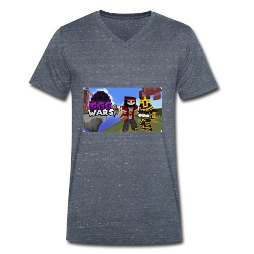 EggWars Manu y Massi - Camiseta ecológica hombre con cuello de pico de Stanley & Stella