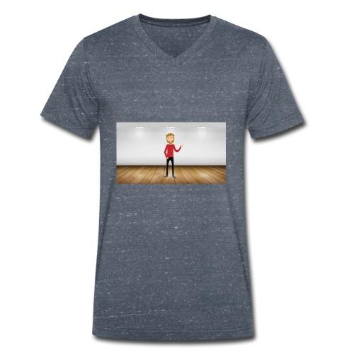 Youtubeman-png - Camiseta ecológica hombre con cuello de pico de Stanley & Stella