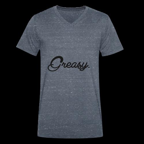 Greasy T-Shirt - Mannen bio T-shirt met V-hals van Stanley & Stella