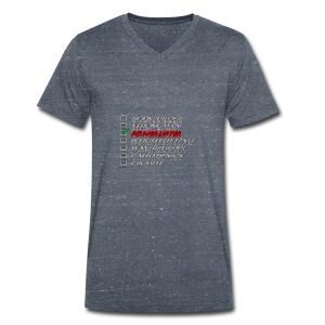 Powerlifter - Mannen bio T-shirt met V-hals van Stanley & Stella