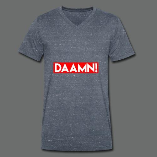 DAAMN Red bar - Männer Bio-T-Shirt mit V-Ausschnitt von Stanley & Stella