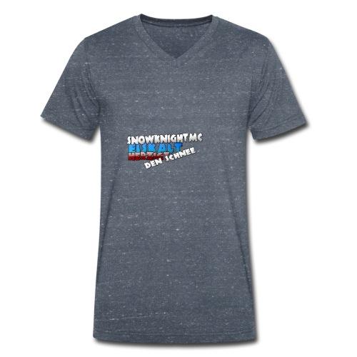 SnowKnightMC_Merch_Logo - Männer Bio-T-Shirt mit V-Ausschnitt von Stanley & Stella