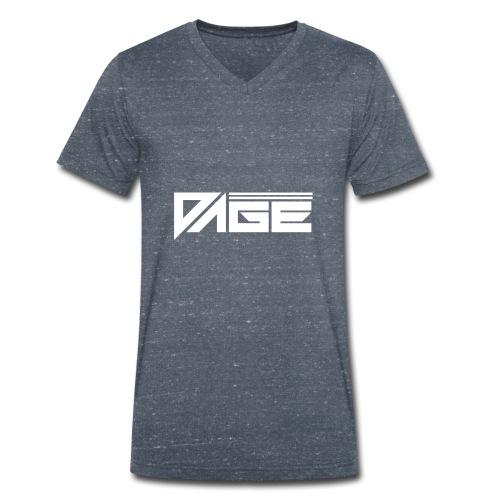 DAGE White - Männer Bio-T-Shirt mit V-Ausschnitt von Stanley & Stella