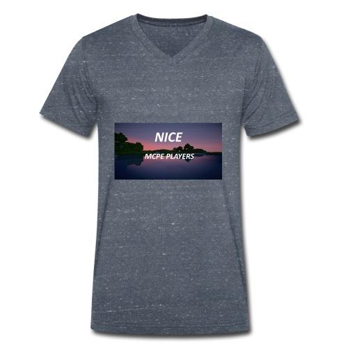 Sonnenuntergang in Minecraft Shader - Männer Bio-T-Shirt mit V-Ausschnitt von Stanley & Stella