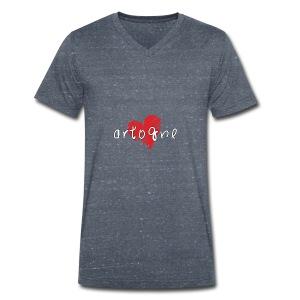 Amo Artogne - T-shirt ecologica da uomo con scollo a V di Stanley & Stella
